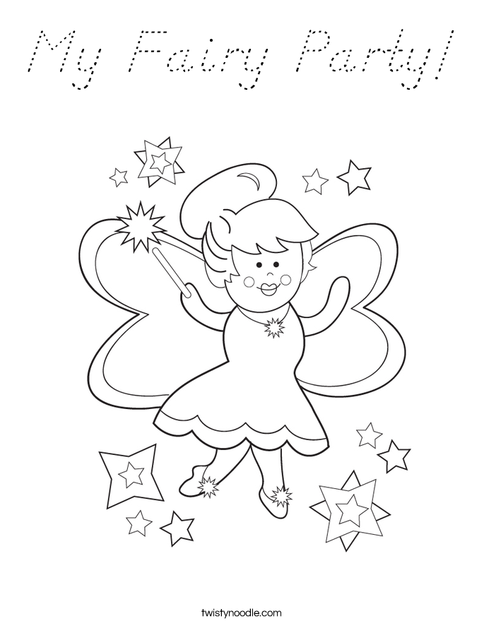 My Fairy Party! Coloring Page