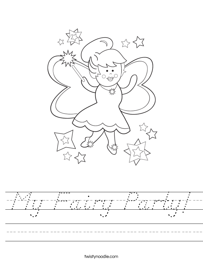 My Fairy Party! Worksheet