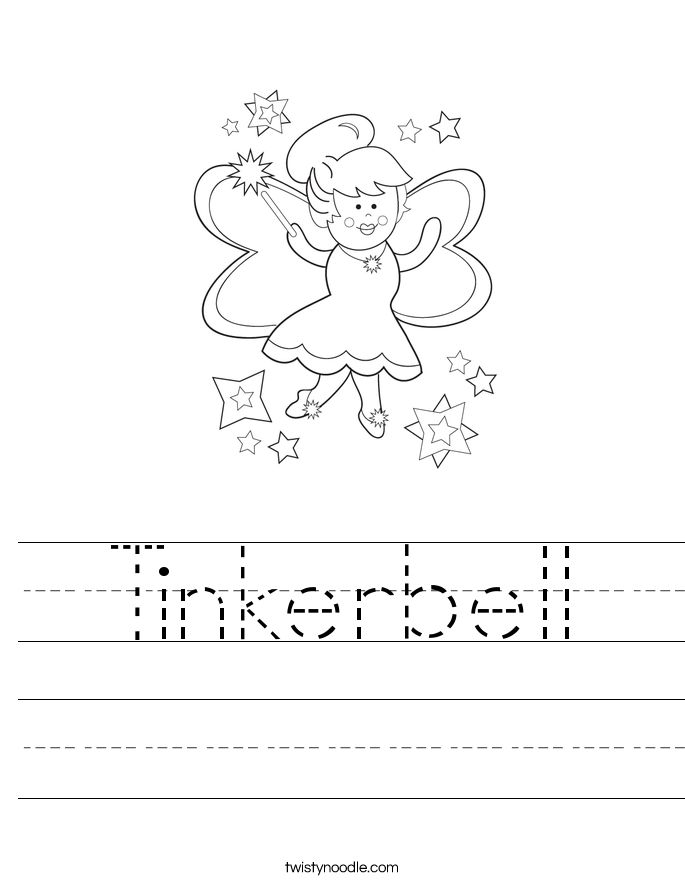 Tinkerbell Worksheet