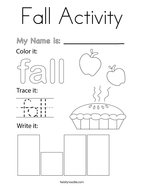Fall Activity Coloring Page