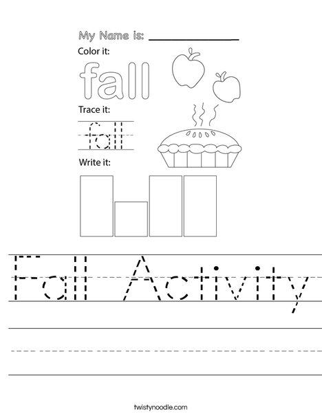 Fall Activity Worksheet