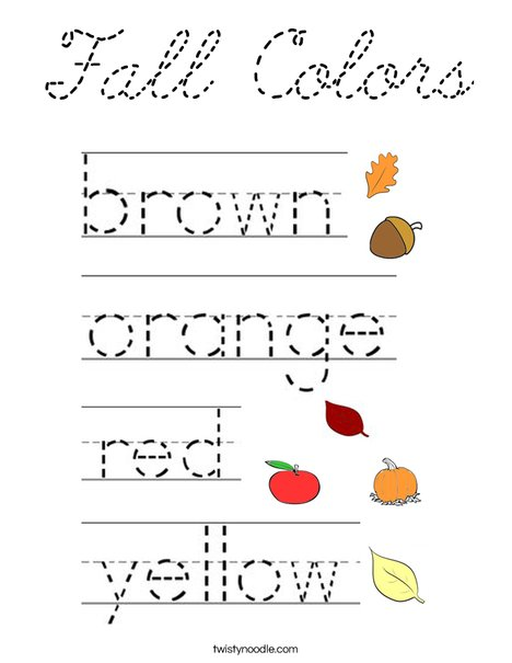Fall Colors Coloring Page