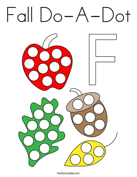 Fall Do-A-Dot Coloring Page