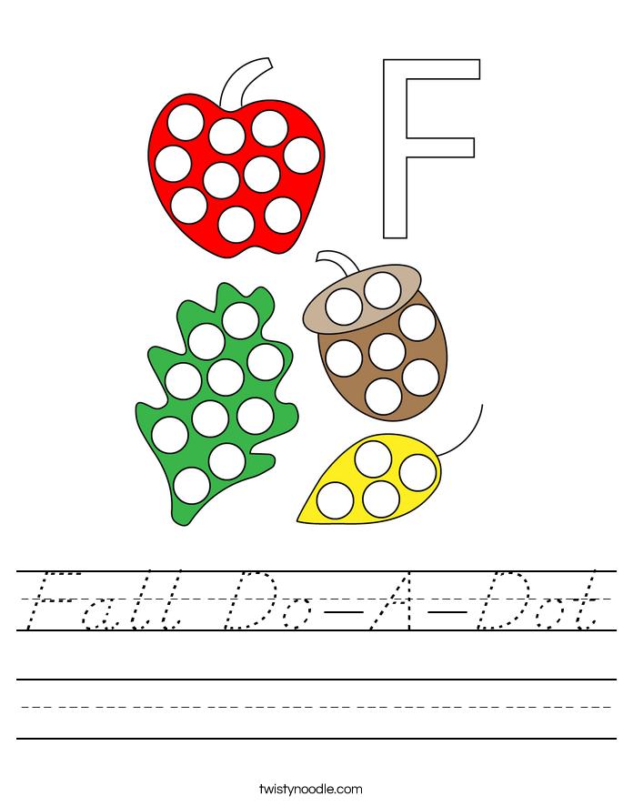 Fall Do-A-Dot Worksheet