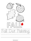 Fall Dot Painting Worksheet