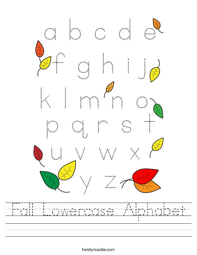 Fall Lowercase Alphabet Worksheet