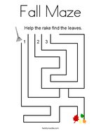 Fall Maze Coloring Page