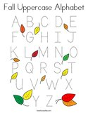 Fall Uppercase Alphabet Coloring Page
