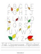 Fall Uppercase Alphabet Handwriting Sheet