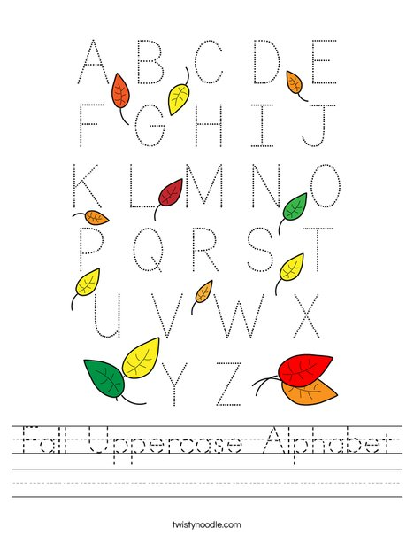 Fall Uppercase Alphabet Worksheet