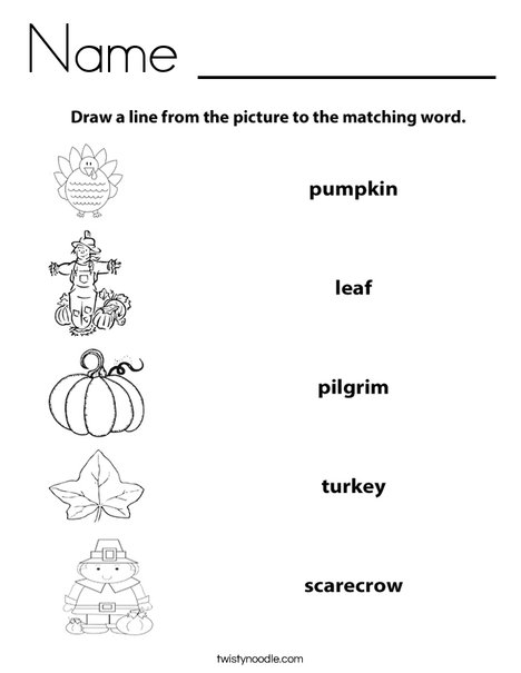 Fall Worksheet Coloring Page