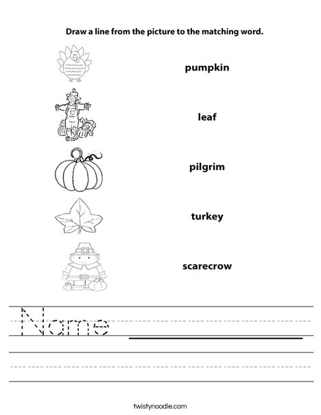 Fall Worksheet Worksheet