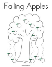 Falling Apples Coloring Page