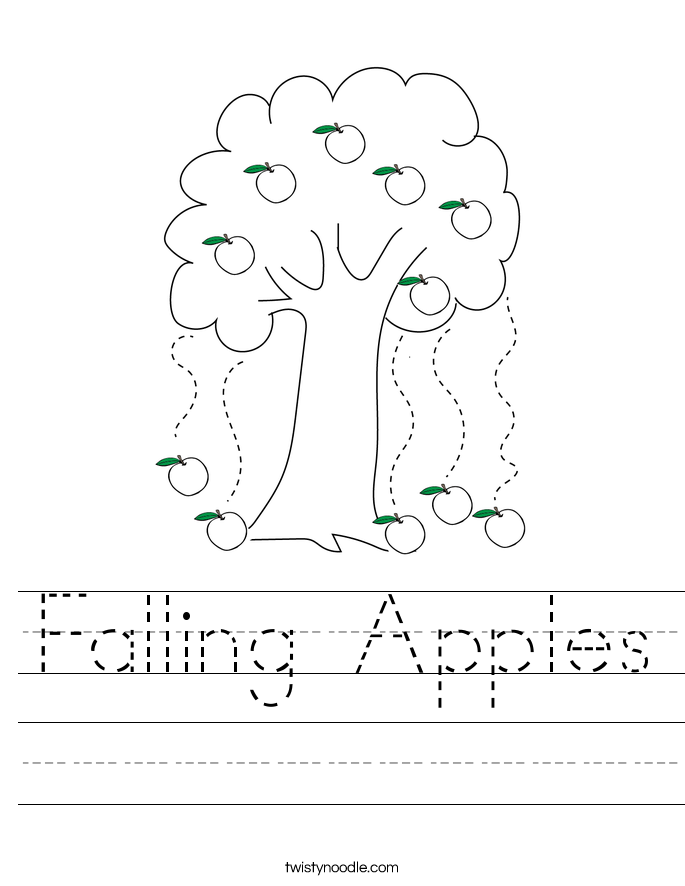 Falling Apples Worksheet