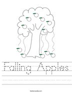 Falling Apples Handwriting Sheet