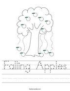 Falling Apples Handwriting Sheet