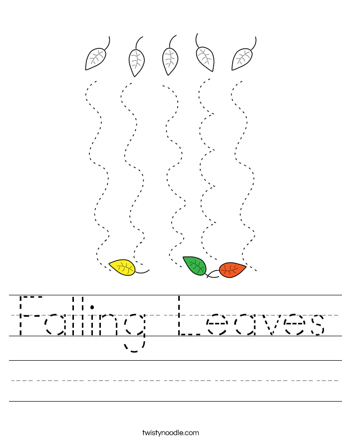Falling Leaves Worksheet