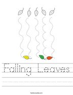 Falling Leaves Handwriting Sheet