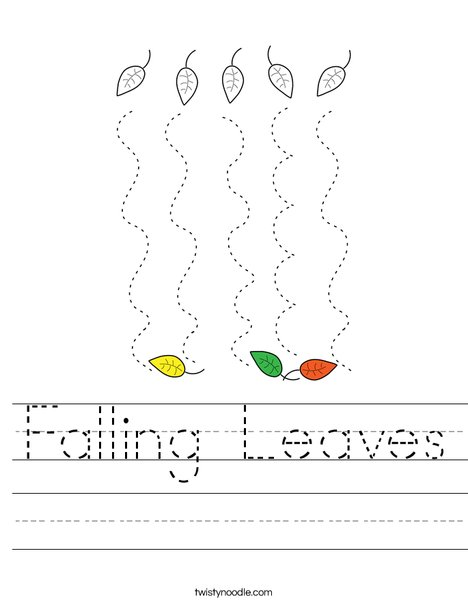 Falling Leaves Worksheet