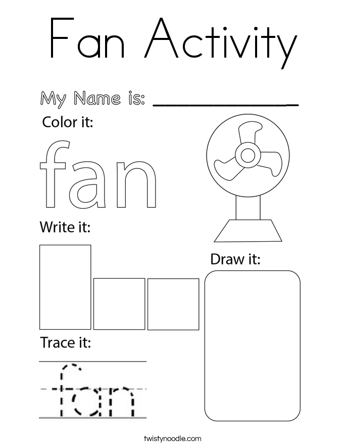 Fan Activity Coloring Page