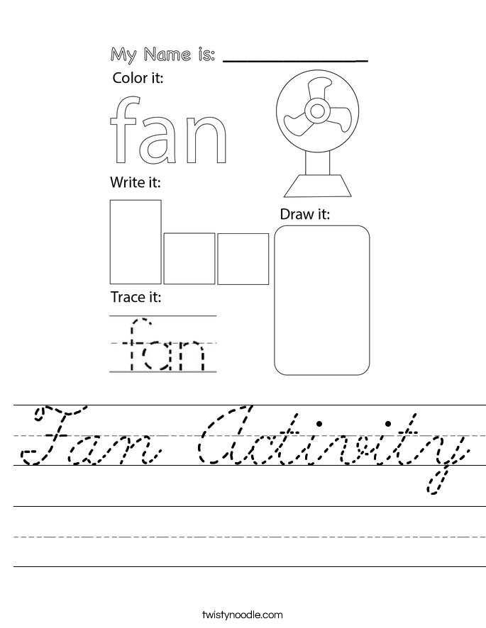 Fan Activity Worksheet