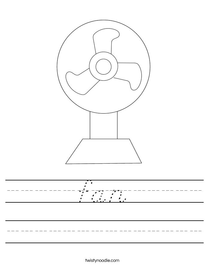 fan Worksheet
