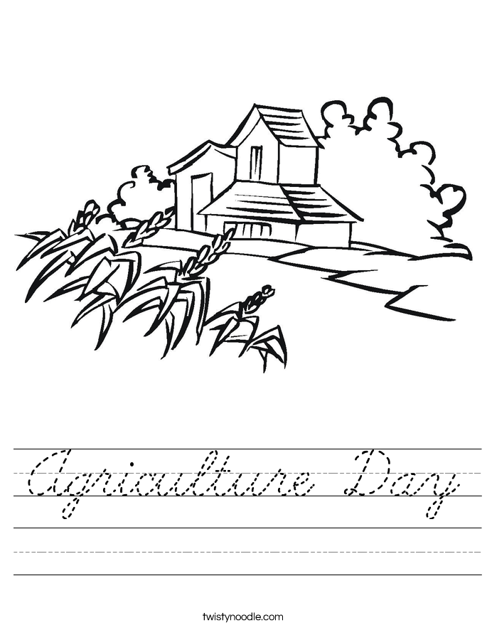 Agriculture Day Worksheet