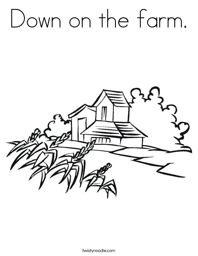 Down on the farm. Coloring Page