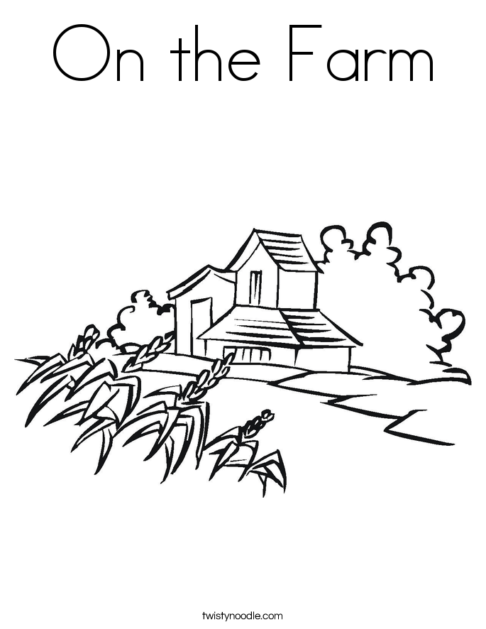 On the Farm Coloring Page