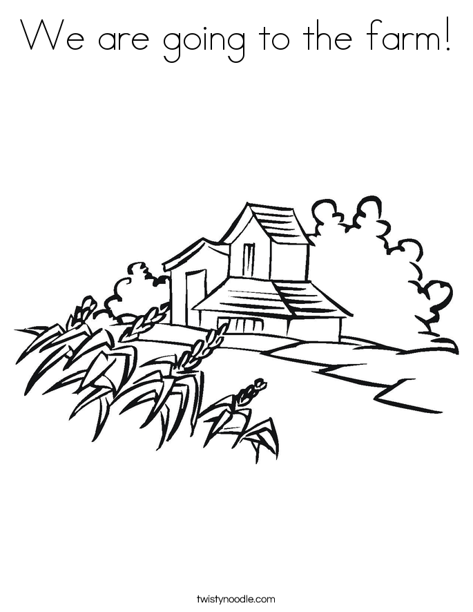 We are going to the farm! Coloring Page