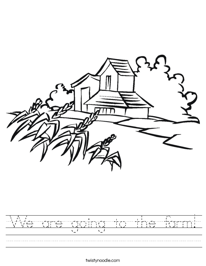 We are going to the farm! Worksheet