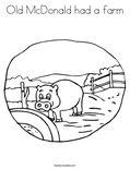 Old McDonald had a farmColoring Page