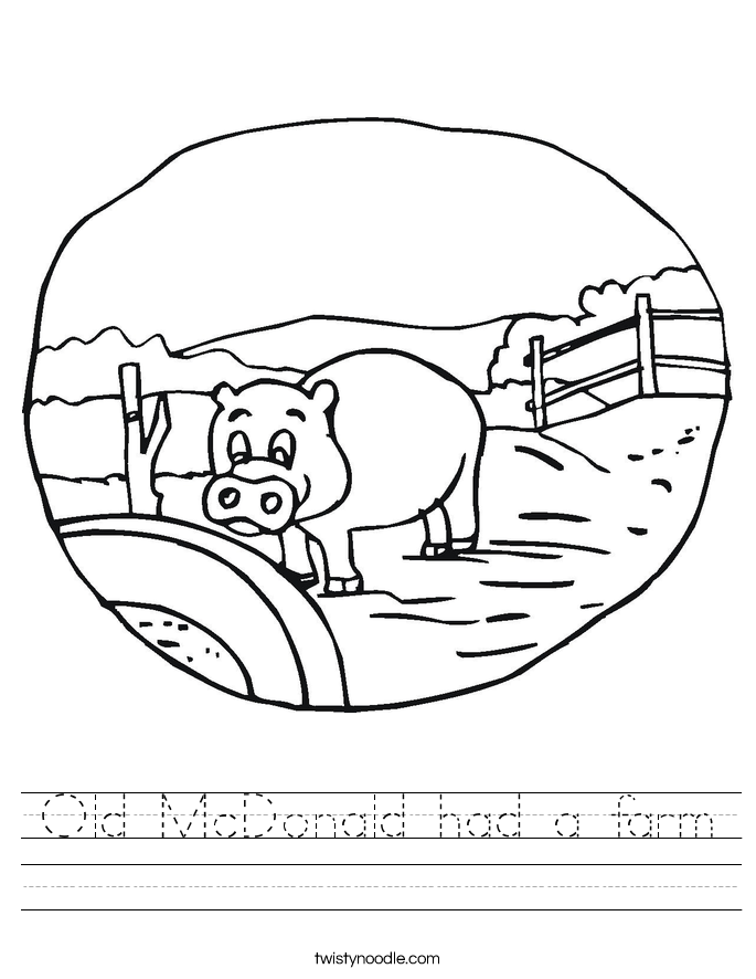 Old McDonald had a farm Worksheet