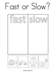 Fast or Slow Coloring Page