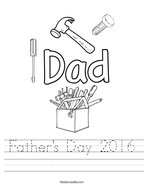 Father's Day 2016 Handwriting Sheet