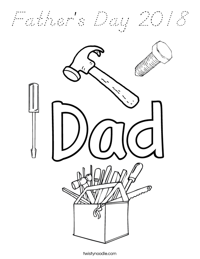 Father's Day 2018 Coloring Page