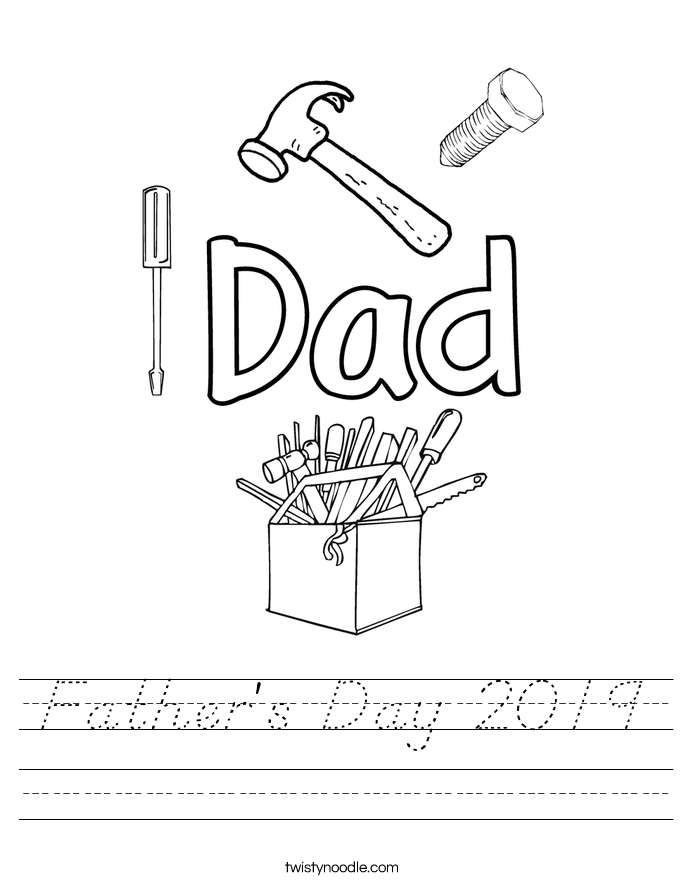Father's Day 2019 Worksheet