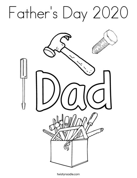 Father's Day 2016 Coloring Page