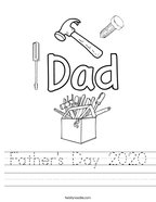 Father's Day 2020 Handwriting Sheet