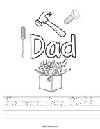 Father's Day 2021 Handwriting Sheet