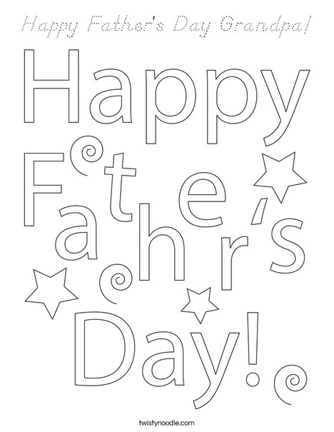 Happy father 39 s day grandpa coloring page d 39 nealian for Fathers day coloring pages for grandpa