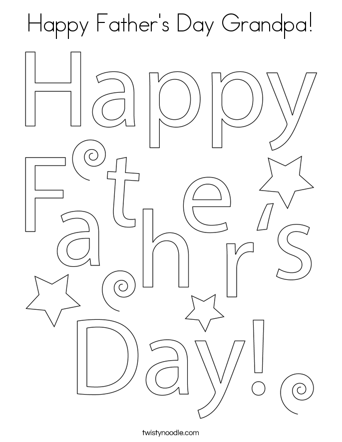 Happy Father's Day Grandpa! Coloring Page