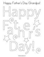 Happy Father's Day Grandpa Coloring Page