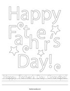 Happy Father's Day Grandpa Handwriting Sheet