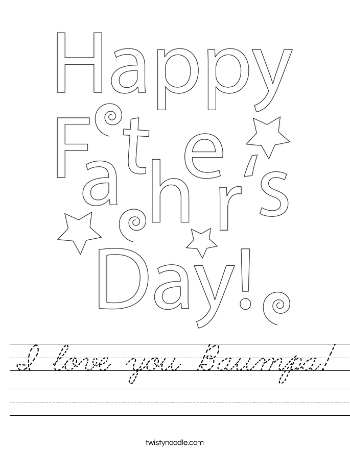 I love you Baumpa! Worksheet