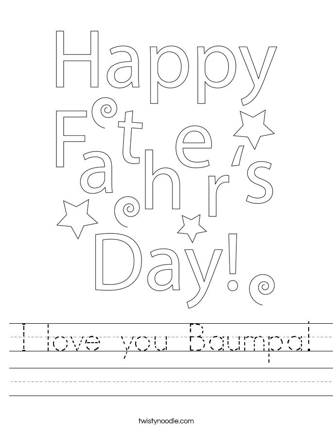 I love you Baumpa! Worksheet
