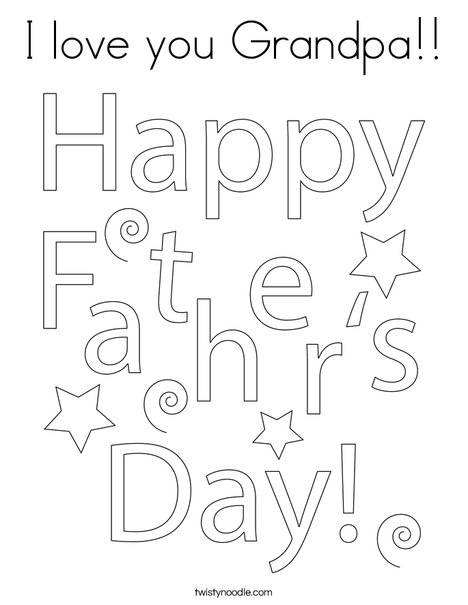 Fathers Day Gift Tag Coloring Page
