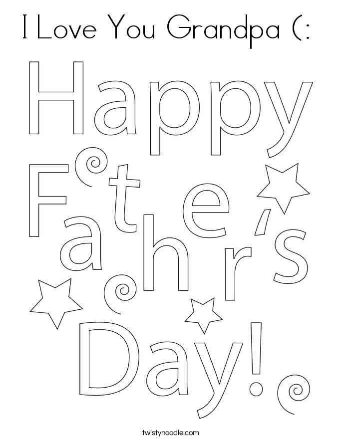 I Love You Grandpa (:  Coloring Page