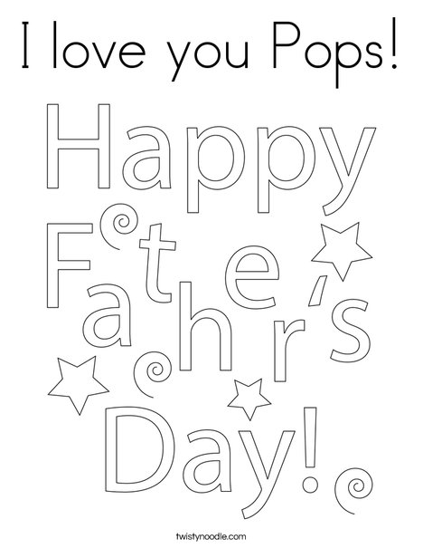 Father's Day Gift Tag Coloring Page