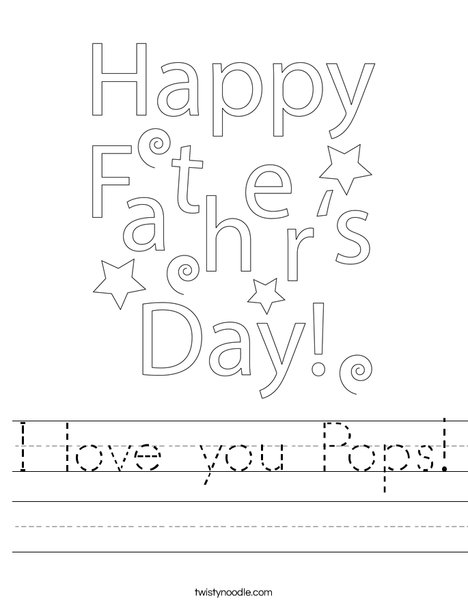 Father's Day Gift Tag Worksheet